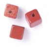 Semi-Precious 6X6mm Cube Red Jasper